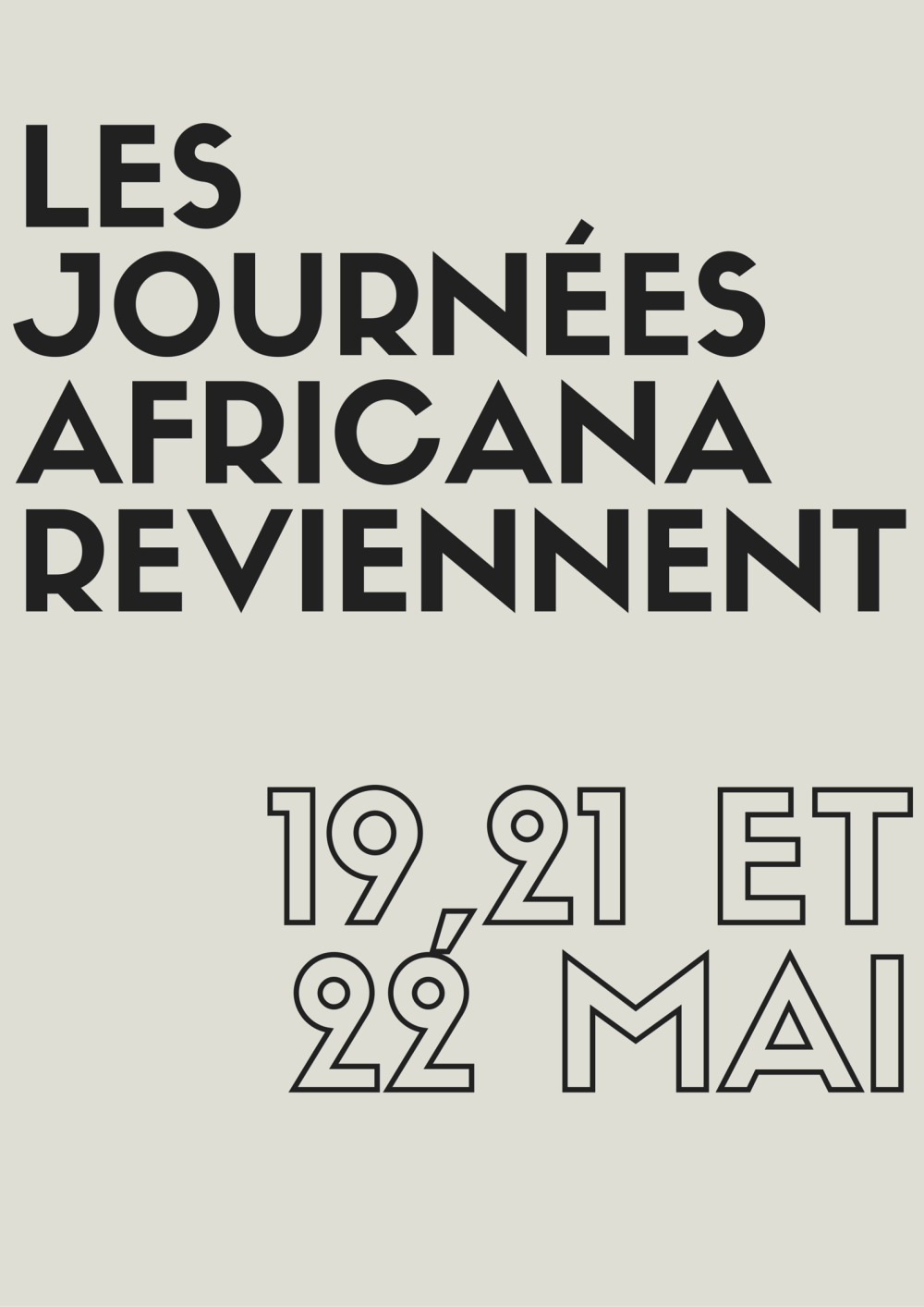 LES JOURNées AFRICANAREVIENNENT